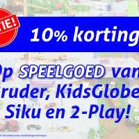 ACTIE 10% korting op speelgoed